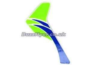 Green Vertical Fin With Decal