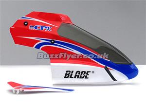 Blade mCPX Red Canopy With Vertical Fin