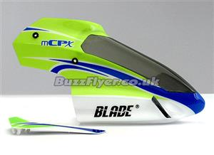 Blade mCP X Green Canopy With Vertical Fin