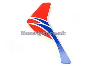 Red Vertical Fin With Decal