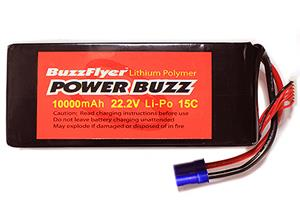 PowerBuzz 10000mAh Lipo 22.2v 6 Cell