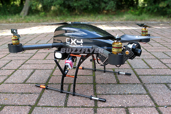 DroidWorx CX4  with thermal imaging camera designed for aerial surveys